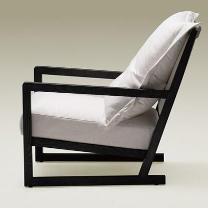 Contemporary accent armchair