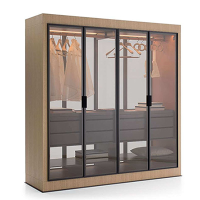 4 door wardrobe storage system