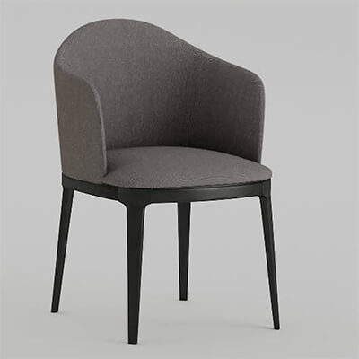Restaurant dining chair with arms