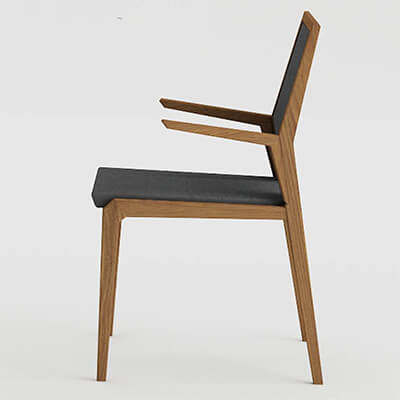 Dining room chair with arms