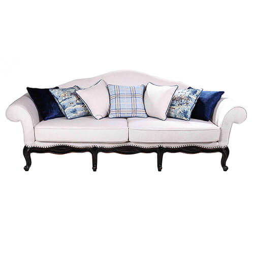 three seat sofa|Wood sofa|Fabric sofa|living room Furniture