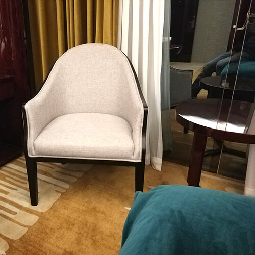 Chairs and tables for hotels