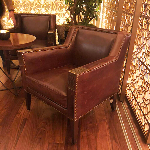 Commercial Genuine Leahter Lounge Chair