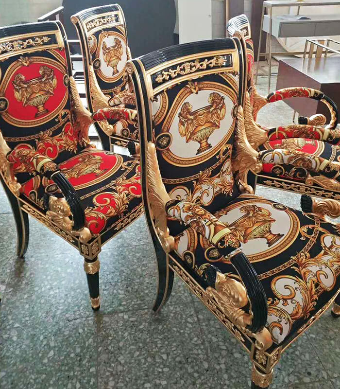 Guangdong Versace Armchair Reproduction Suppliers ...
