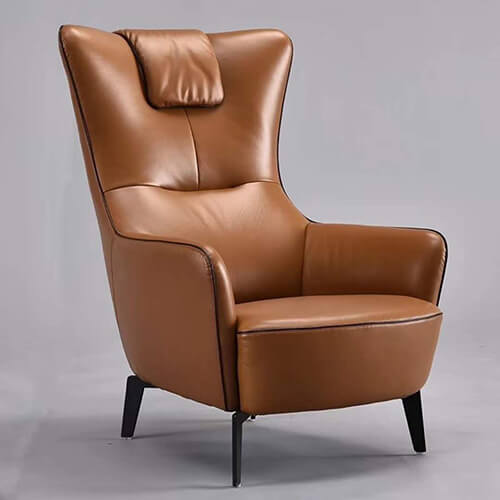 Genuine Leather Accent Lounge Chair