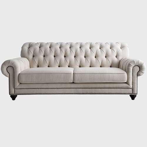 China Tufted Button Fabric Sofa