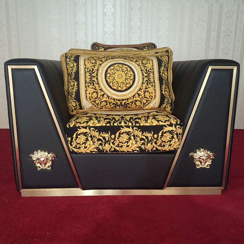 China Versace Via Gesu Leather Sofa Replica