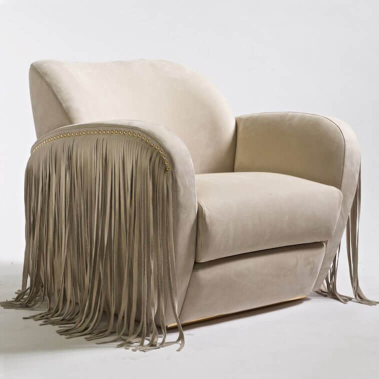 china versace via gesu fringe side armchair