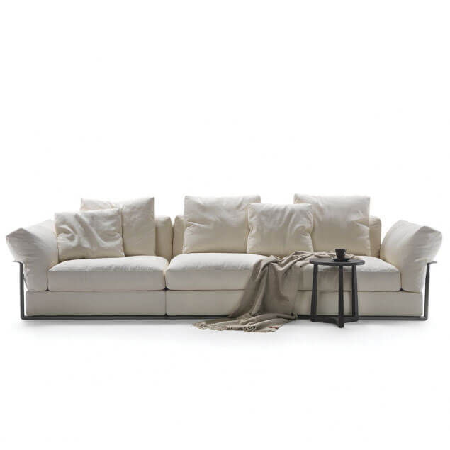 Flexform zeno sectional fabric sofa reproduction