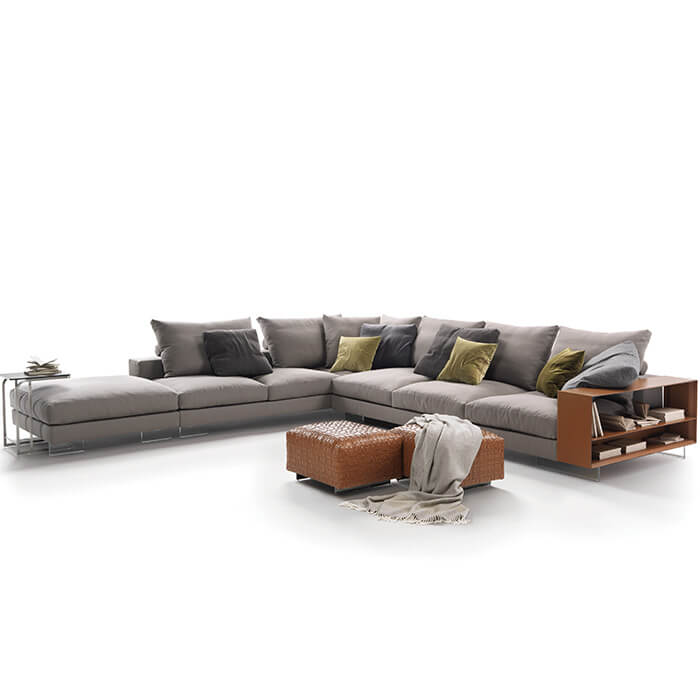 china custom made lightpiece sectional fabric sofa couch