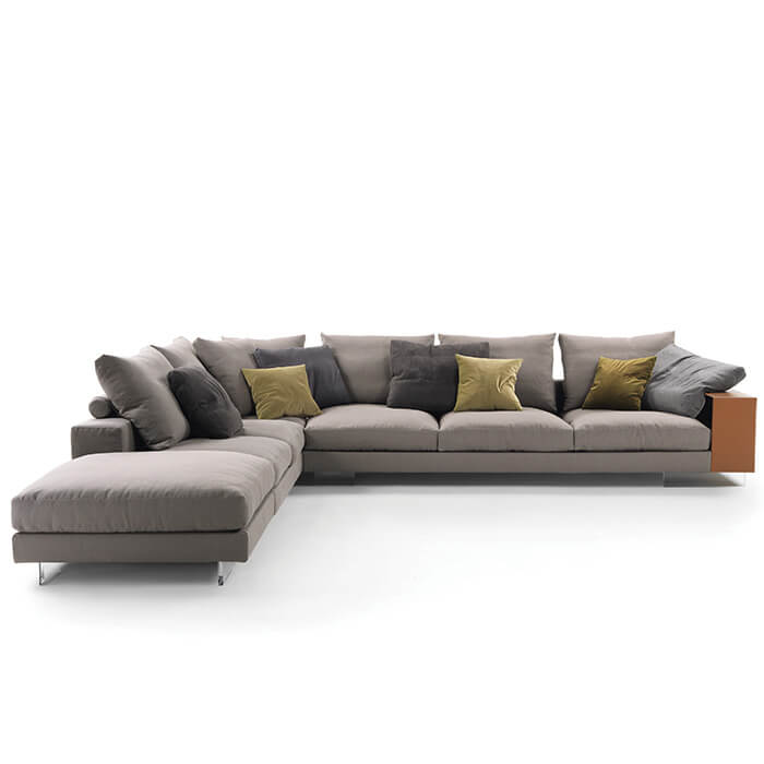 China customized flexform lightpiece sofa factory