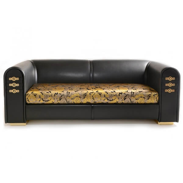 China Versace Signature leather sofa replica factory