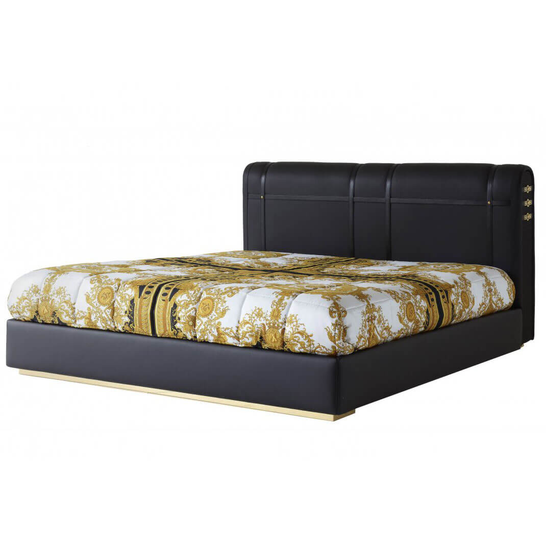 China versace signature leather bed replica